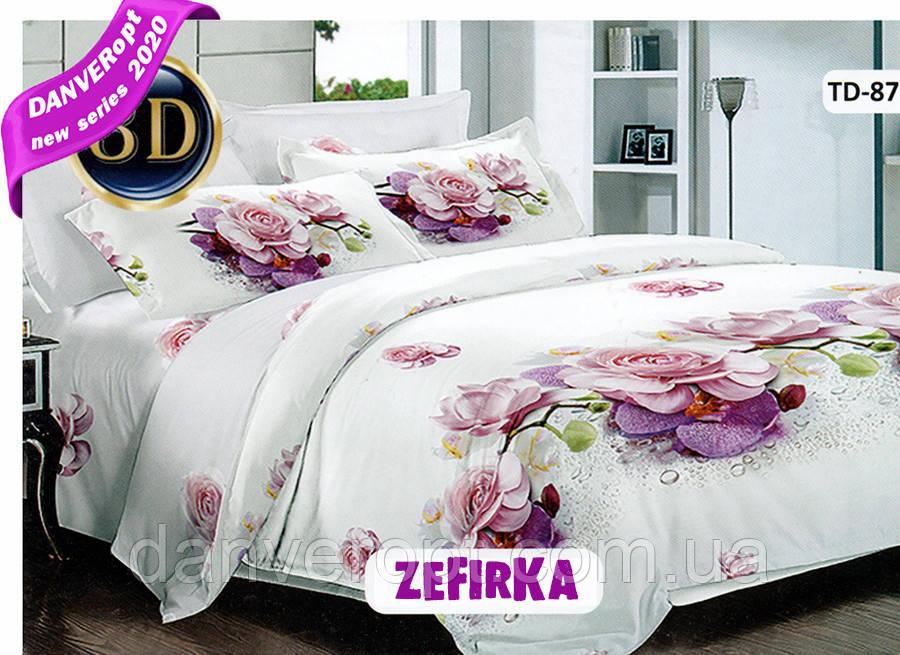 Постільна білизна полуторна ZEFiRKA бавовна розмір 145*215, купити оптом зі складу 7км Одеса