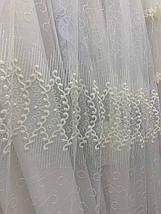 Красивая фатиновая тюль с нежной вышивкой 2807, фото 2