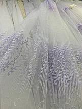 Красивая фатиновая тюль с нежной вышивкой 2807, фото 3