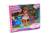 Кукла игрушечная Pets buggy 63002 с питомцем собачкой, коляской и аксессуарами, фото 3