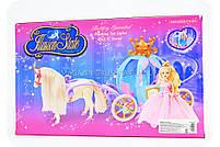 Кукла с каретой и лошадью 205A (лошадь ходит, на батарейках), фото 2