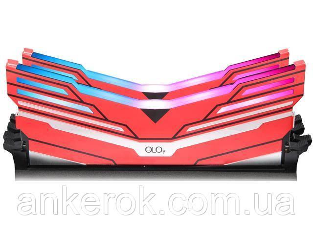 Оперативна пам'ять OLOy Warhawk RGB 16Gb (2x8Gb) DDR4 3200 MHz Red (MD4U083216BCDA)