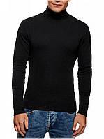 Мужской черный свитер гольф