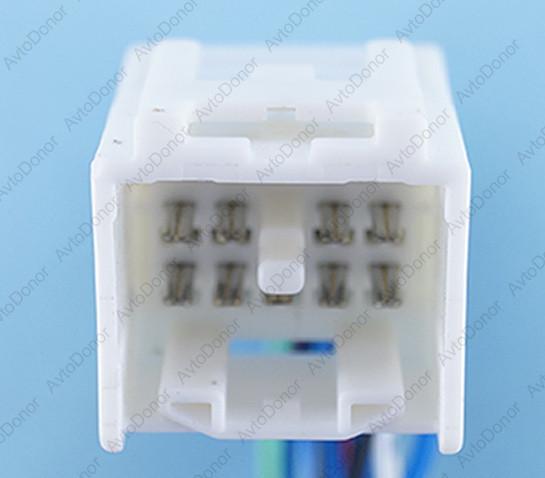 Разъем автомобильный 17-pin/контактный. 27×26 mm. Б.У. 12161