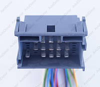 Разъем автомобильный 21-pin/контактный. 42×27 mm. Б.У. 9676351, 1967630