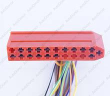 Разъем автомобильный 21-pin/контактный. 64×12 mm. Б.У