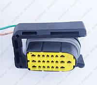 Разъем автомобильный 22-pin/контактный. 39×19 mm. Б.У. 805929