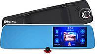 """Сенсорный видеорегистратор зеркало DVR C33 с тремя камерами 5"""", фото 1"""