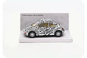 Машинка Kinsmart Wolkswagen new Beetle KT5062W - белая