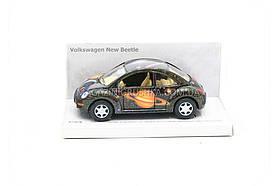 Машинка Kinsmart Wolkswagen new Beetle KT5062W - чёрная