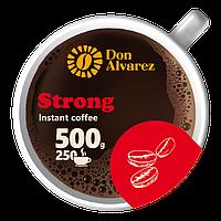 Don Alvarez Strong 500 г Колумбия эконом пакет кофе растворимый сублимированный