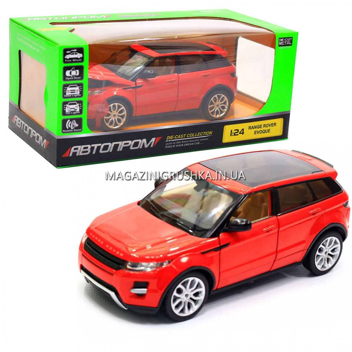 Машинка игровая автопром «Range Rover Evoque» красный 68244A
