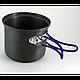 Кастрюля-кружка 0,9 л. анодированная с крышкой-сковородкой, фото 9