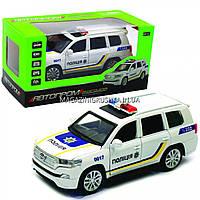 Машинка игровая автопром «Полицейский автомобиль» джип, металл, 15 см (свет, звук) 7844-3
