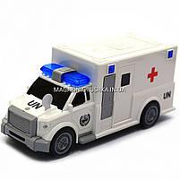 Машинка ігрова автопром «Швидка допомога» (світло, звук), масштаб 1:20 біла (7918ABC), фото 3