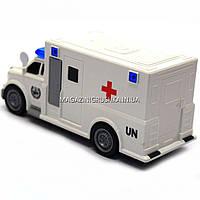 Машинка игровая автопром «Скорая помощь» (свет, звук), масштаб 1:20 белая (7918ABC), фото 4