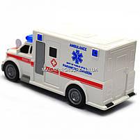 Машинка ігрова автопром «Швидка допомога» (світло, звук), масштаб 1:20 червоно-біла (7918ABC), фото 2