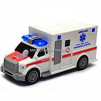 Машинка ігрова автопром «Швидка допомога» (світло, звук), масштаб 1:20 червоно-біла (7918ABC), фото 3