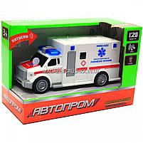 Машинка ігрова автопром «Швидка допомога» (світло, звук), масштаб 1:20 червоно-біла (7918ABC), фото 4