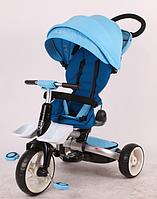 Детский трехколесный велосипед-коляска складной Crosser MODI T 600 ROSA EVA  голубой