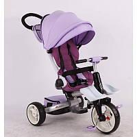 Детский трехколесный велосипед-коляска складной Crosser MODI T 600 ROSA EVA   фиолетовый