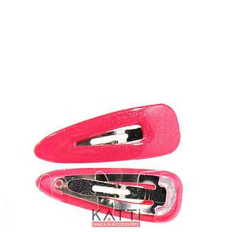 26512 заколка KATTi хлопушка малая металл+пластик цветная перламутр 3,6см 1шт, фото 2