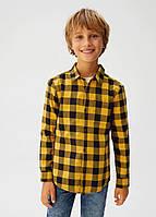 Клетчатая рубашка с карманом Mango