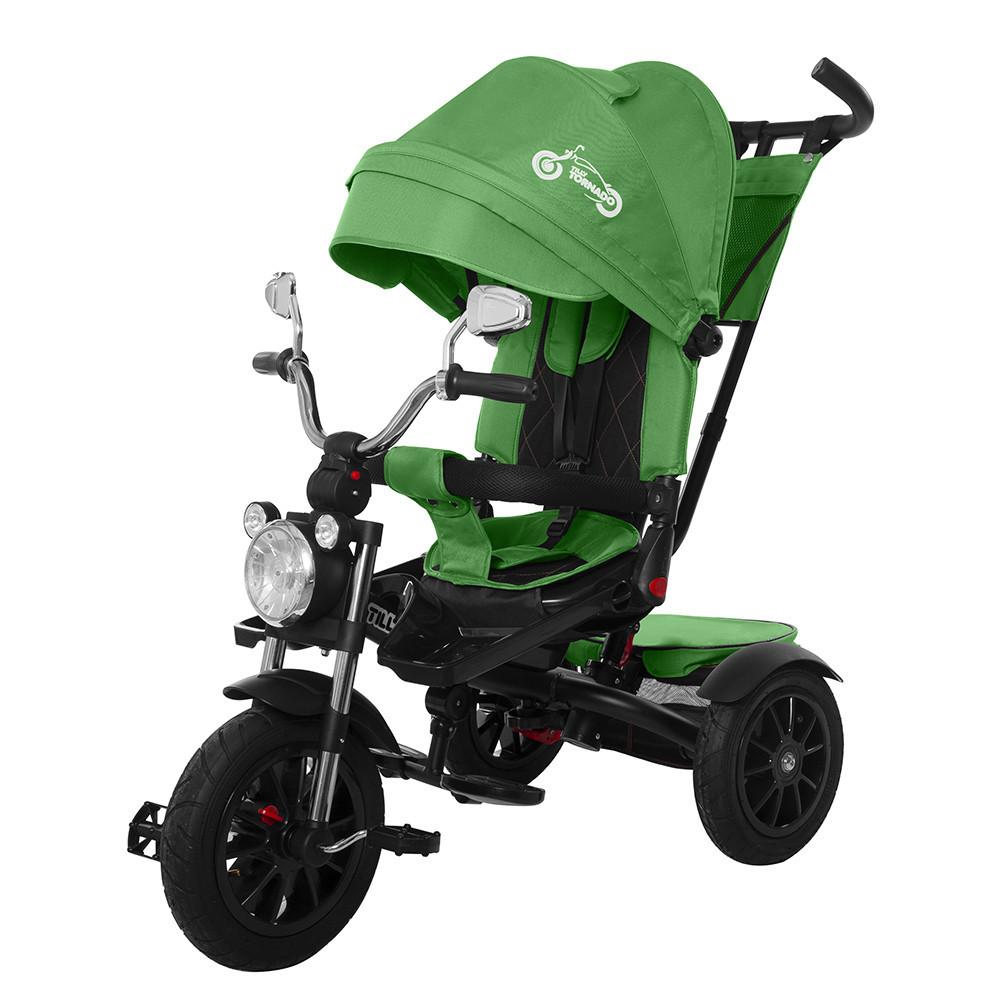 Дитячий триколісний велосипед-коляска TORNADO Т 383 зелений