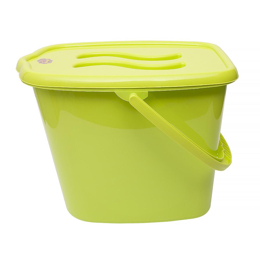 Ведерко для подгузников и воды Maltex Classic 0172  green
