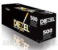 Черные Сигаретные Гильзы Для Набивки Табаком Diezel Black 500 шт