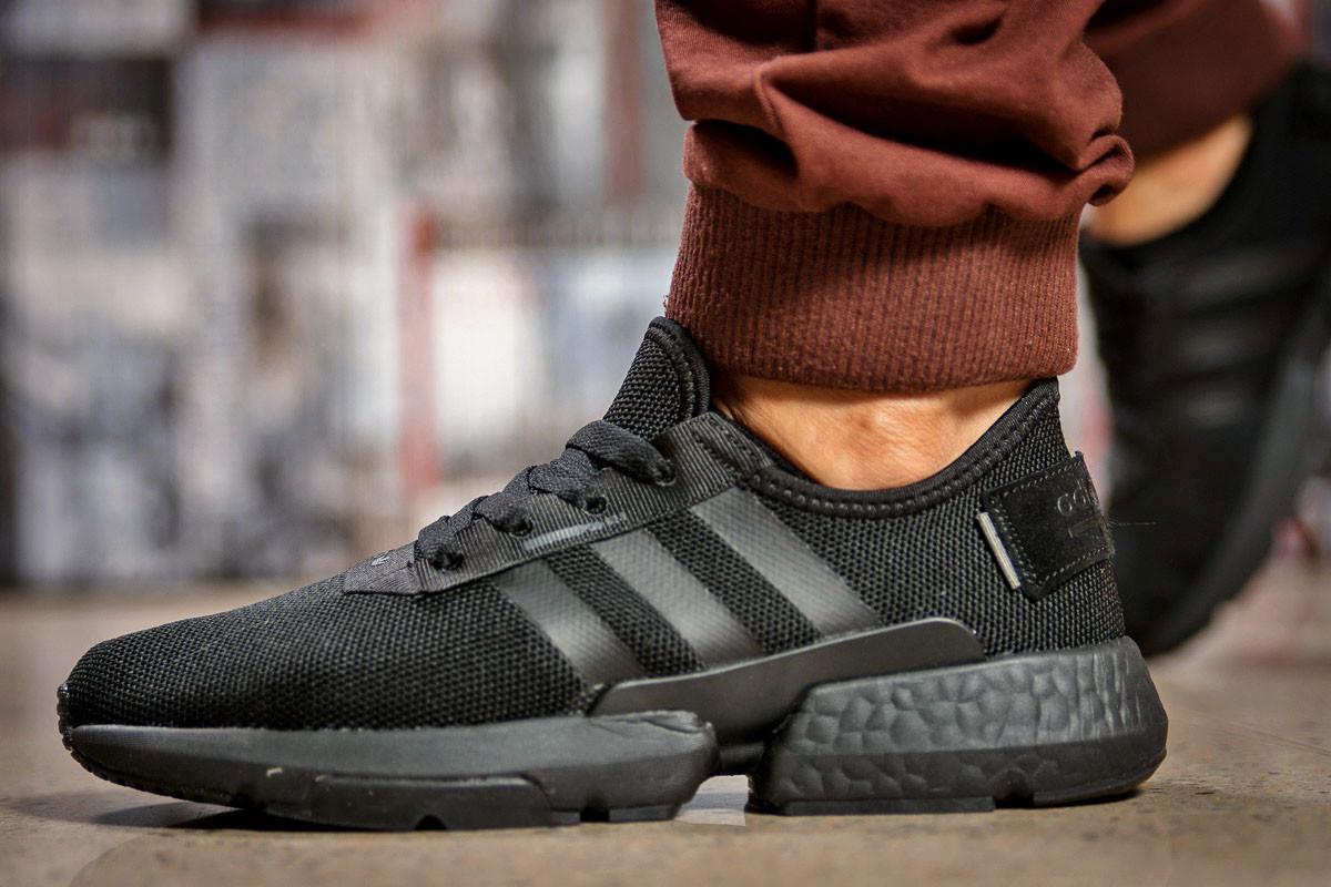 Кроссовки мужские 15321, Adidas POD - S3.1, черные ( размер 44 - 28,5см )