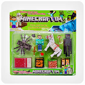 Набор фигурок «Minecraft» (Майнкрафт, 12 предметов - Эндермен)