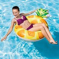 Надувной круг Intex Ананас (Pineapple) 56266P. Отлично подходит для отдыха на море, в бассейне, фото 3