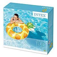 Надувной круг Intex Ананас (Pineapple) 56266P. Отлично подходит для отдыха на море, в бассейне, фото 4
