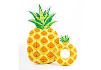 Надувной круг Intex Ананас (Pineapple) 56266P. Отлично подходит для отдыха на море, в бассейне, фото 5