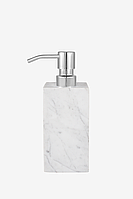 Дозатор для жидкого мила из белого мрамора с серыми разводами AWD02341519