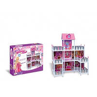 Кукольный домик 3-х этажный с набором мебели 66889