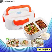 Ланч-бокс автомобильный электрический Electric Lunch box с подогревом 1.05 л - Контейнер для еды 12V Оранжевый, фото 3