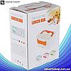 Ланч-бокс автомобильный электрический Electric Lunch box с подогревом 1.05 л - Контейнер для еды 12V Оранжевый, фото 5