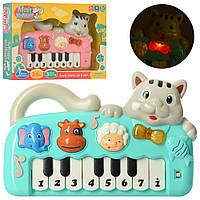 Пианино 999-10A (24шт) 26см, кот, муз, зв, свет, 2цв, в кор-ке, 31,5-21,5-6см Н