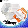 Ланч-бокс автомобильный электрический Electric Lunch box с подогревом 1.05 л - Контейнер для еды 12V Оранжевый, фото 4