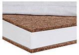 Матрас Солодких Снів Bamboo Comfort Premium - 12 см. (кокос, полиуретан, кокос)  белый, фото 3