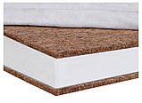 Матрас Солодких Снів Organic Cotton Comfort Elite - 10 см. (кокос, полиуретан, кокос)  белый, фото 3