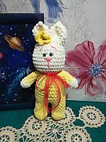 Зайка в пижаме - мягкая игрушка, размер 31 см, антистресс, холлофайбер / IG - 010, фото 1