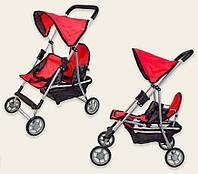 Детская прогулочная коляска 9618 Melogo для двойни красная