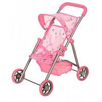 Коляска для кукол Bambi 9304 D. Железная, корзина. Розовая