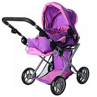 Коляска для кукол Melogo 9346, фиолетово-розовая
