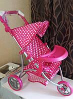 Коляска для кукол 9377, розовый горошек