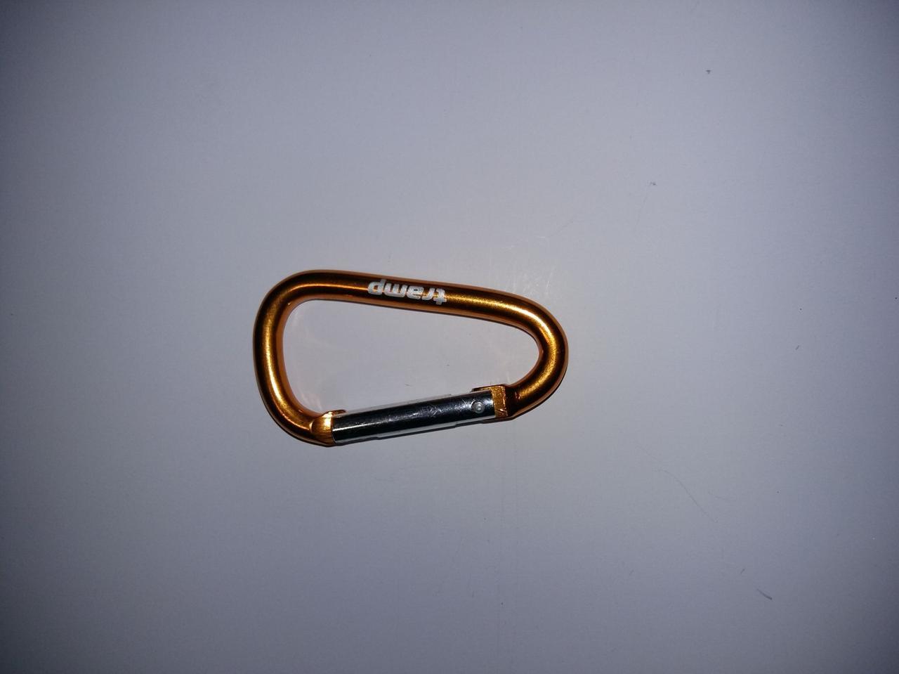 Карабін Tramp алюмінієвий, розмір 6 см, без муфти, жовтий арт.TRA-006