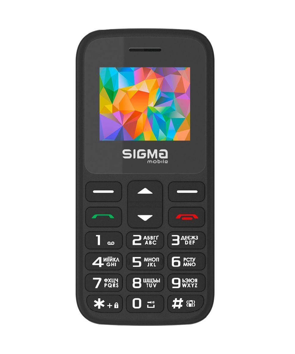 Телефон кнопочный для бабушки на 2 сим карты с фонариком Sigma Comfort 50 HIT 2020 черный